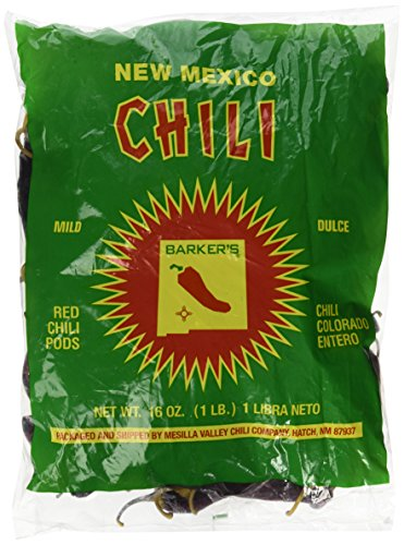Barker's Mild Red Chili Pods From Hatch, New Mexico (1 Lb.) Dried Chile Chili Pepper Pods
