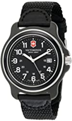 Victorinox Men's 249087 Original XL Analog Display Swiss Quartz Black Watch