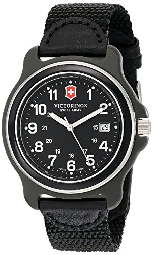 Army Logo Watch - Victorinox Men's 249087 Original XL Black Stainless Steel Watch