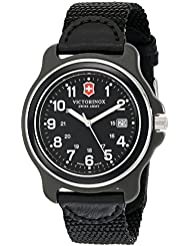 Victorinox Mens 249087 Original XL Black Stainless Steel Watch