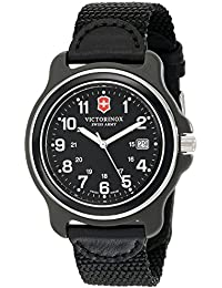 Mens 249087 Original XL Black Stainless Steel Watch. Victorinox