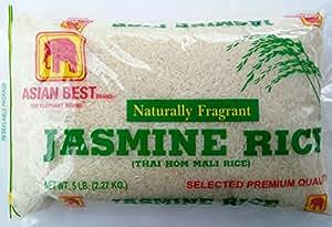 Amazon.com : Asian Best Jasmine Rice, 5 Pound : Grocery