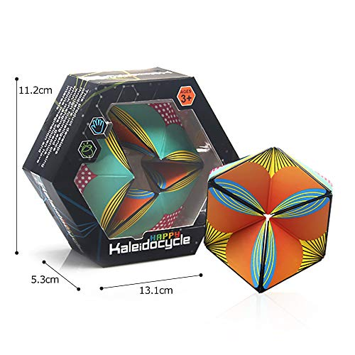Colorful Kaleidocycle,Infinite Cycle and Infinite Non-circulation Finger Toy Fidget Toy,Mini Gadget Best for Stress and Anxiety Relief and Extend Thinking, Math Geometric Model Education toy for Kids ()