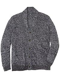 Men's Big & Tall Shaker Knit Shawl-Collar Cardigan Sweater