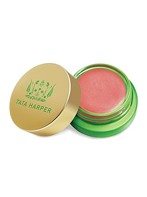 Tata Harper Volumizing Lip and Cheek Tint - Very Charming | 100% Natural & Nontoxic | Petal Pink Multi-Purpose Cream Blush | 4.5g best lip stain