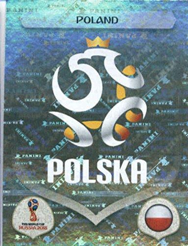 Card Russia (2018 Panini World Cup Stickers Russia #592 Team Logo Poland Foil Soccer Sticker)