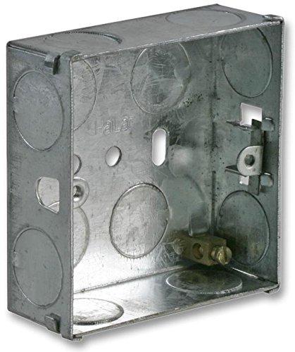 Metal Back Box 1 Gang 25mm Pro Elec