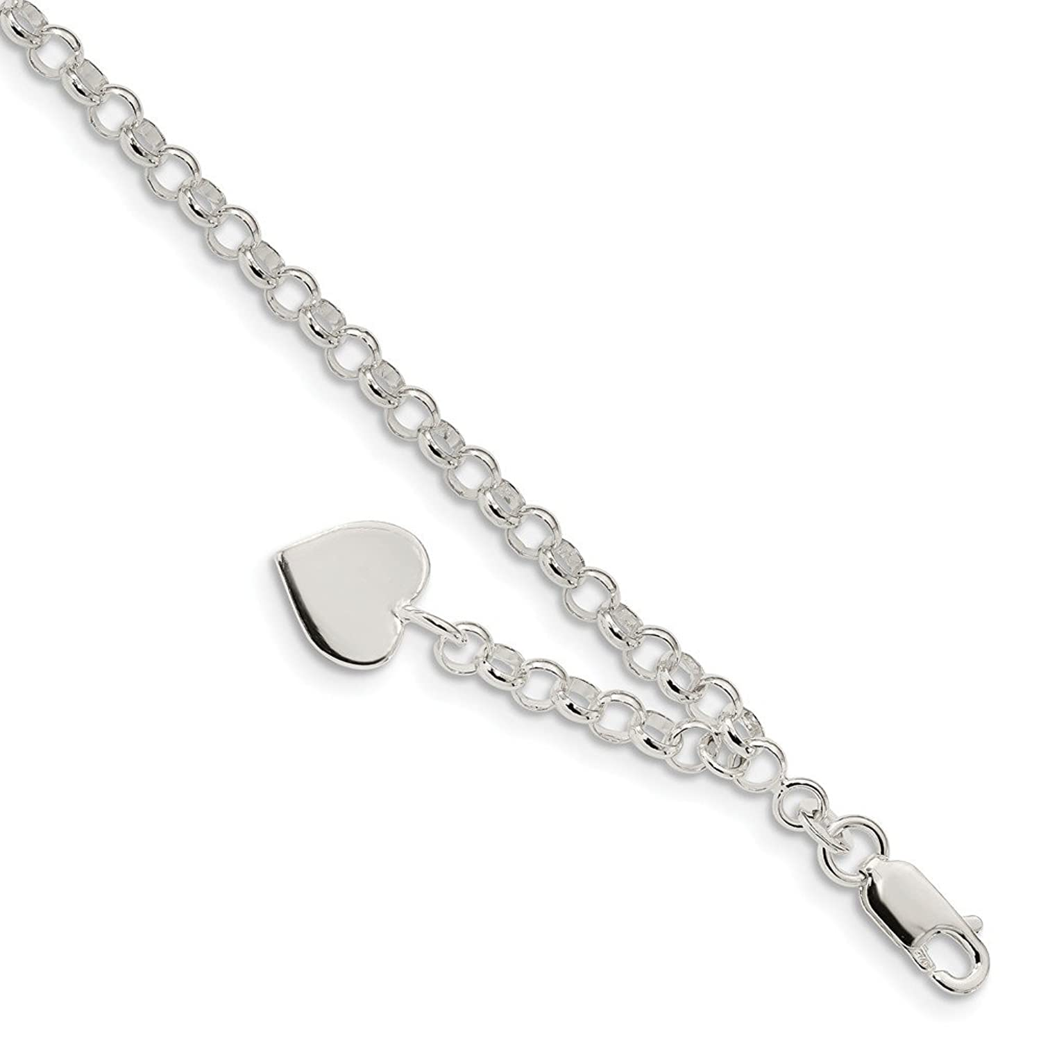 Solid 925 Sterling Silver Black with Gray Waves and Bubbles Glass Charm Bead for European Snake Chain Bracelets