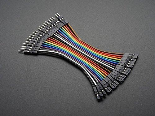 Adafruit Premium Female/Male 'Extension' Jumper Wires - 20 x