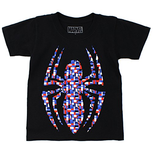 Marvel Comics Heroes Boys T-Shirt (5/6, Black (Spider-Man))