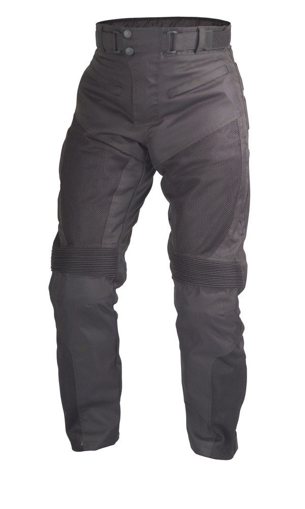 Motorcycle Sport Mesh Riding Pants Black with Removable CE Armor PT3 (3XL-Short)