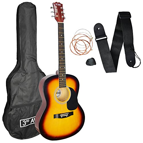 3rd Avenue Acoustic Guitar Beginner Starter Pack - Sunburst