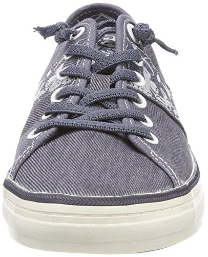 Femme S Bleu Basses Sneakers denim oliver 23611 zanqFIa