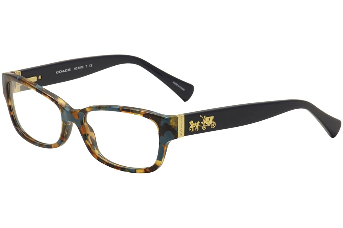 5c8ec711f1 Coach Women s HC6078 Eyeglasses Black Ivory Wild Beast 52mm at Amazon  Women s Clothing store
