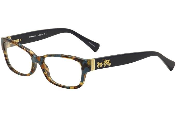 b75d1159d091 Coach HC6078 Teal Confetti Clear Lens Solid Polarized Eyeglasses ...