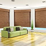 """Arlo Blinds, Dali Native Light Filtering Bamboo Roman Shade with Valance - Size: 34""""W x 74""""H"""