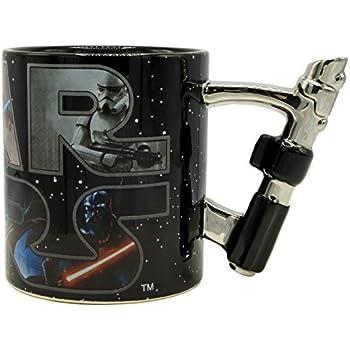 Silver Buffalo SW12433D Star Wars Light Saber Handle Ceramic 3D Sculpted Mug, 20-oz