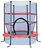 AirZone 4-1/2 Foot Kids First Outdoor Band Trampoline with Mesh Padded Perimeter Safety Enclosure