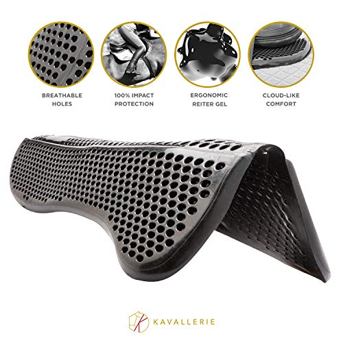 (Kavallerie Saddle Pad - Helps with Saddle Bridging, Sore Back, Swayed Back, High Withers -English Bareback Pad for Horses, Protective, Perfect for Eventing, Schooling, Dressage, Jumping- Seat Saver)