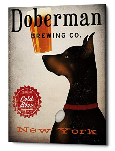 Epic Graffiti ' 'Doberman Brewing Company NY' by Ryan Fowler Giclee Canvas Wall Art, 40