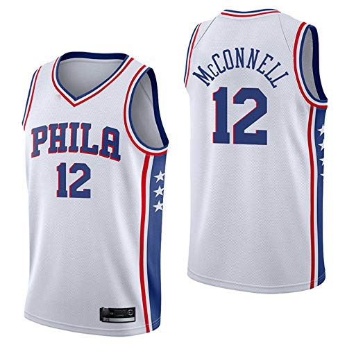 RockMark Men's_Youth_76ers_Jersey_McConnell_#12_White_Swingman_Jersey-S