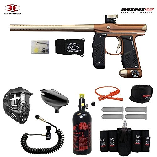 MAddog Empire Mini GS Elite Remote HPA Paintball Gun Package - Dust Brown/Dust ()