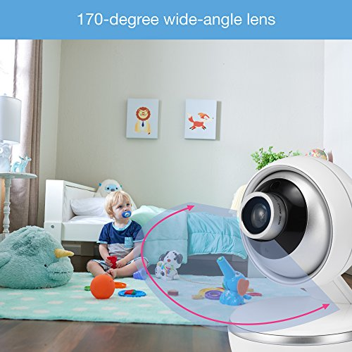 """VTech VM5261 5"""" Digital Video Baby Monitor with Pan & Tilt Camera, Wide-Angle Lens and Standard Lens, White by VTech (Image #5)"""