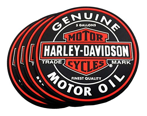 Harley-Davidson Genuine Bar & Shield Oil Can PVC Coaster, used for sale  Delivered anywhere in USA
