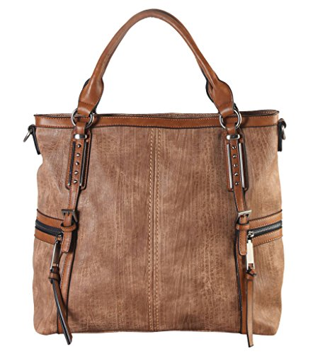 diophy-soft-pu-leather-tote-accented-with-two-studded-decor-buckles-in-front-and-zippered-pockets-on