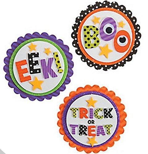 Boo Eek Trick-or-Treat Magnet Craft Kit (Makes 12) Halloween -