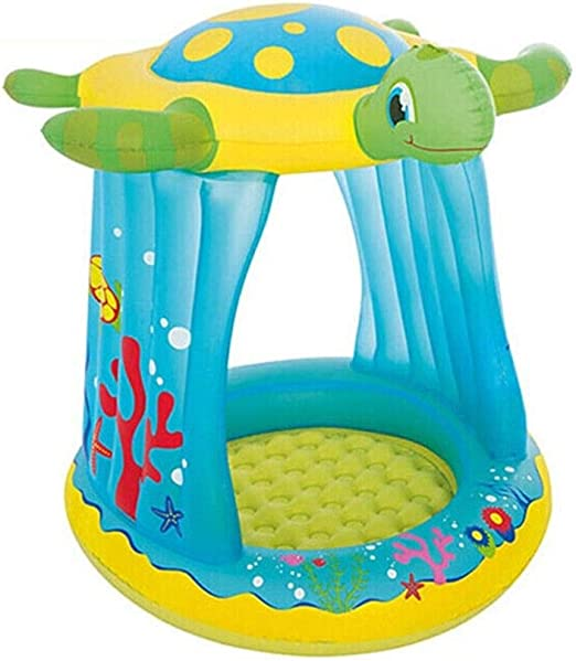 HUUQ HRQ Bañera Inflable for niños Piscina Plegable Sombrilla ...