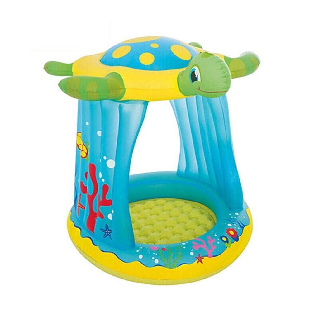 W&NR Bañera Inflable for niños Piscina Plegable Sombrilla Piscina ...