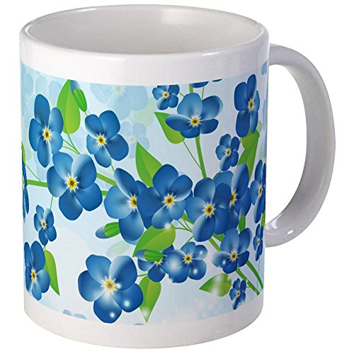 CafePress Forget Me Not Flowers Mug Unique Coffee Mug, Coffee Cup