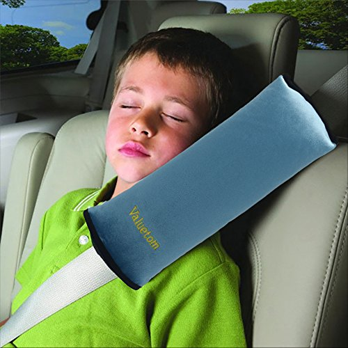 Valuetom Seatbelt Pillow, Car Seat Belt Covers for Kids, Adjust Vehicle Shoulder Pads, Safety Belt Protector Cushion, Soft Auto Seat Belt Strap Cover Headrest Neck Support for Children Baby (Blue) (Belt Seat Types Pad)