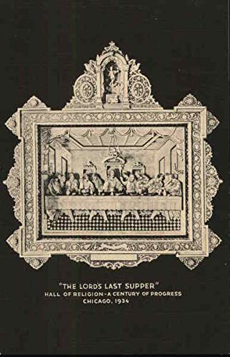 Hall of Religion - The Lords Last Supper 1933 Chicago World Fair Original Vintage Postcard