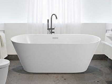 Vasca da bagno freestanding ovale acrilico - HAVANA III: Beliani ...