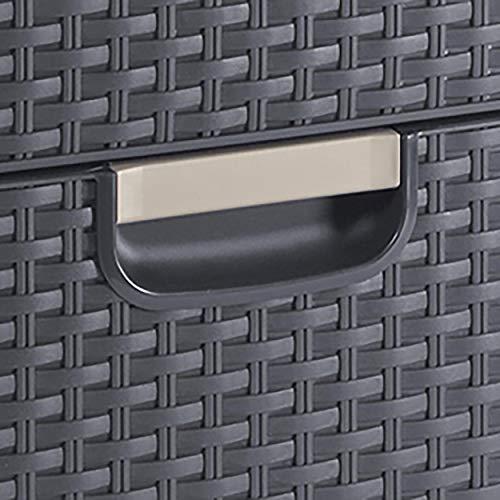 Amazon.com - Curver Style Rectangular 3 Drawer Storage Tower ...
