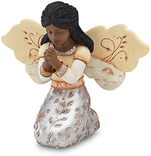 (Elements in Faith Ebony Angel Figurine by Pavilion, 3-1/2-Inch, Praying )
