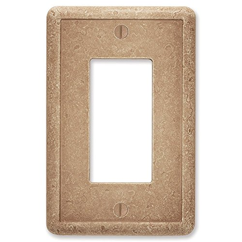 Questech Noche Tumbled Textured Wall Plate/Switch Plate/Outlet Cover (Single Decorator GFCI - 3 Pack)