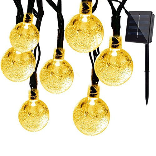 Solar-Outdoor-String-Lights-Satu-Brown-21ft-30-LED-Waterproof-Crystal-Ball-Starry-Globe-Lights-for-Home-Garden-Patio-Yard-Parties-Christmas-Decoration