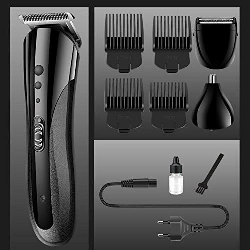 Men Shaver Men's Electric Shaver,3 In 1 Hair Clipper Nose Hair Beard Trimmer With Limit Comb Rechargeable Multifunction Portable Hmhope