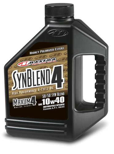 Maxima (349128B) Syn Blend4 10W-40 Motorcycle Engine Oil - 1 Gallon Jug