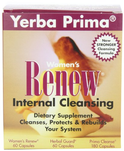 Yerba Prima Women's Renew Internal Cleansing, 60 capsules each of Renew, herbal Guard and 180 Capsules of Prima Cleanse (Best Cleanse For Women)