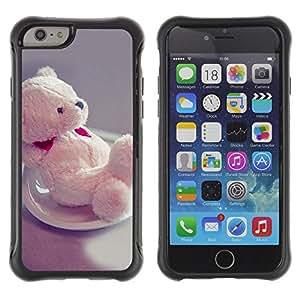 Jordan Colourful Shop@ Cute Teddy Bear Heart Rugged hybrid Protection Impact Case Cover For iphone 6 6S CASE Cover ,iphone 6 4.7 case,iphone 6 cover ,Cases for iphone 6S 4.7