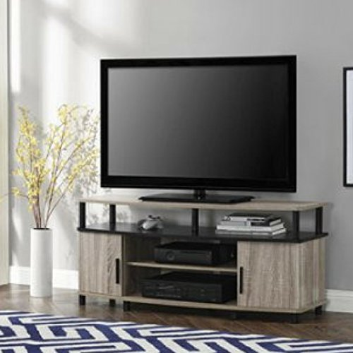 Adjustable Shelves Contemporary Style 50'' Sonoma Oak TV Stand by Ameriw00d Home
