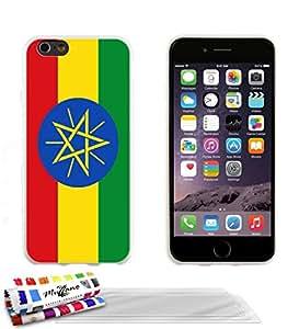Carcasa flexible Ultrafina Blanca Original de MUZZANO estampada Bandera Etiopía para APPLE IPHONE 6 PLUS 5.5 POUCES + 3 películas de protección UltraClear para la pantalla