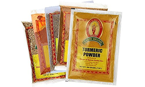 Laxmi Indian Spice Pack - 5 Essential Spices (Cumin, Garam Masala & More)
