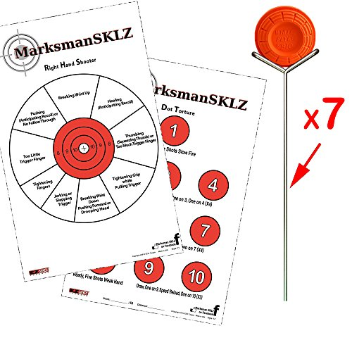 - Diagnostic Shooting PAPER Targets (20 + 5 Bonus Targets) + 7 Clay Target HOLDER | Shooting Practice Basics | Firearms And Handgun Target Focus Training + Sporting Clays Accessories For Men And Women