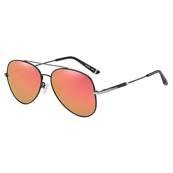 Amazon.com: CAXMAN Polarized Aviator Sunglasses Ultra-Thin Frame ...