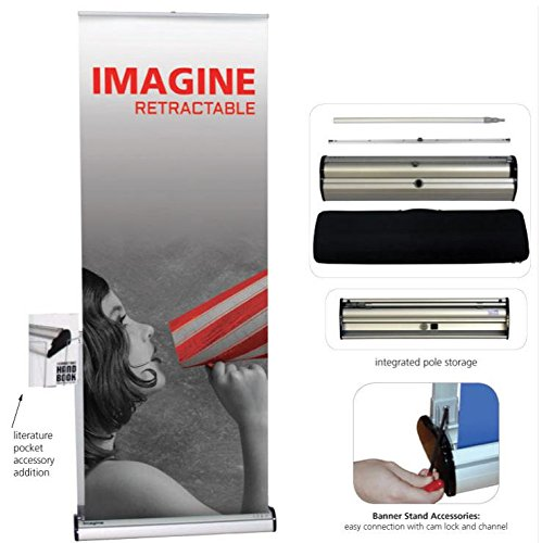 Orbus IMG-800-S 800mm Silver Banner Stand